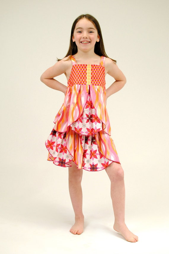 Girls' Petal Dress outfit, Children Clothing, Girl Dresses, Girl Skirt, Girl Top, toddler dress, kids ,Size 2T 3T 4T 5 6 7 8