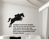 Horse decal, quote wall sticker, wall words decal, girls room horse decal, teen room horse quote decal, western decor,35 X 26 inches, 133-HQ