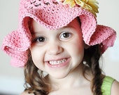 Sofie Floppy Hat Crochet Pattern *Instant Download* (Permission to sell all finished products)