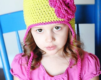 Basic Beanie and Beanie Earflap Hat Crochet Patterns *Instant Download* (Permission to sell all finished products)