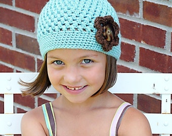 Chloe Cap Crochet Hat Pattern *Instant Download* (Permission to sell all finished products)