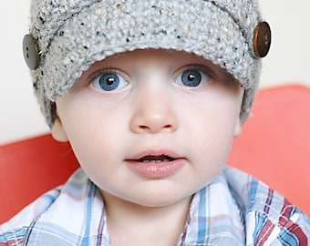 Classic Newsboy Crochet Hat Pattern *Instant Download* (Permission to sell all finished products)