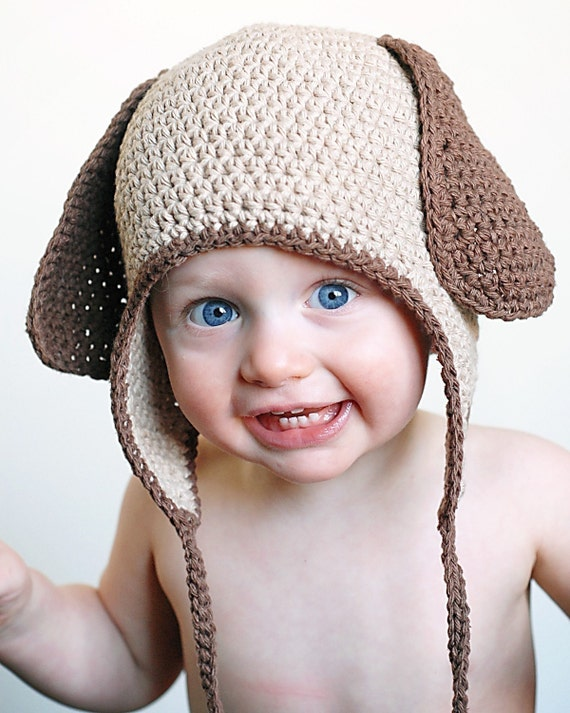 Doggy Earflap Crochet Hat Pattern *Instant Download*(Permission to sell all finished products)