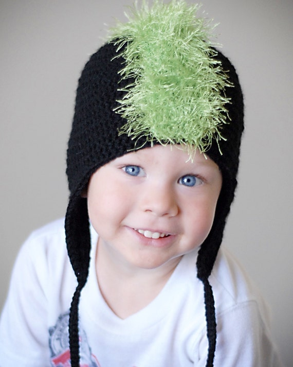 Diesel Mohawk Hat Crochet Pattern *Instant Download*(Permission to sell all finished products)