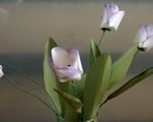 Purple Kissed Tulips Paper Flower Bouquet, Home Decor, Paper Art, Handmade Flowers, Table Decor, Wedding Decoration, Spring Flowers