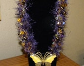 CLEARANCE PRICED - Butterfly and Crystal Necklace