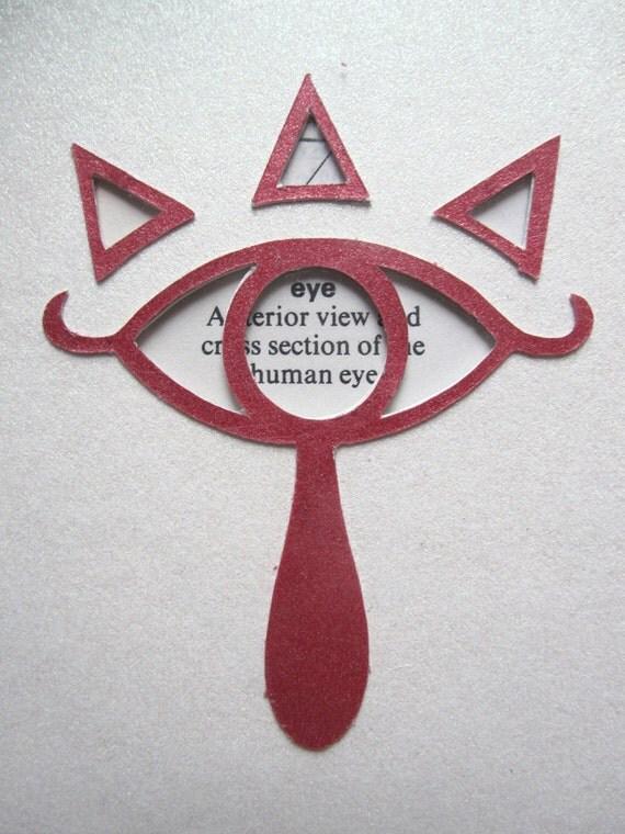 Legend of Zelda, Eye of the Sheikah - Custom Cut Bookmark