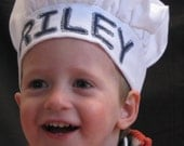 Child Toddler Personalized Chef Hat Lots of colors to choose from