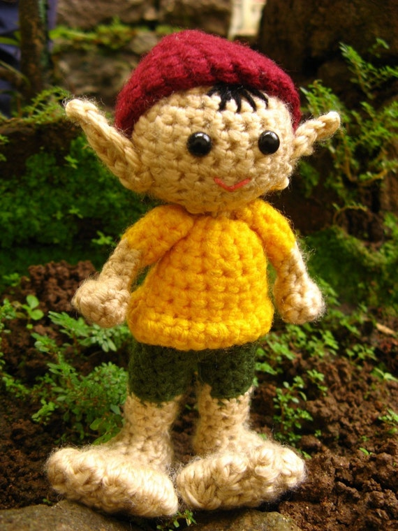 Amigurumi Elf Crochet Pattern PDF christmas decor elf children's plushie soft toy handmade doll homemade gift tutorial