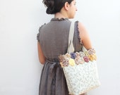 RESERVED Rosaleda Tote Quilted, Orinuno Vintage Fabrics