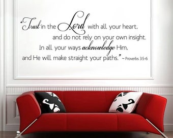 Scripture Wall Decal TRUST in the LORD  HUGE