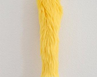 Faux Fur Fox Tail - Yellow - Cosplay / Furry / Costume
