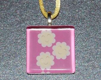 SALE - MLP : FiM Cheerilee Cutie Mark Glass Tile Necklace