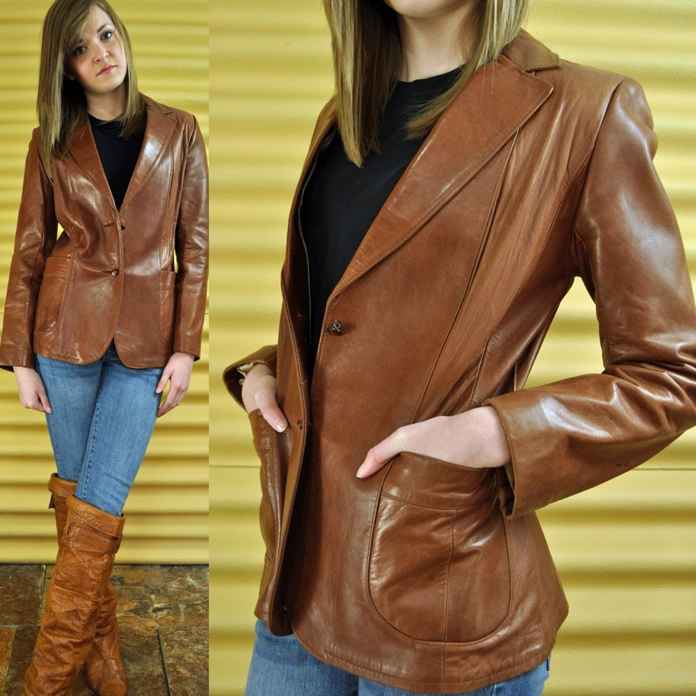 Beautiful Brown Leather Pants For Women