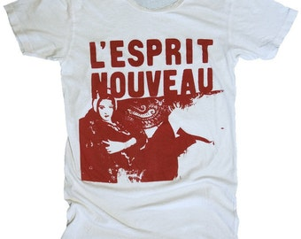 L'Esprit Nouveau, Part 1, 100 Percent Cotton T-shirt, Vintage White, mens XL