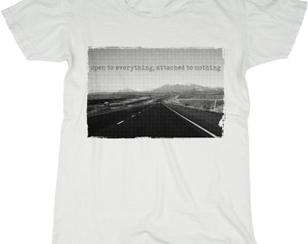 The Open Road, 100 Percent Cotton Vintage White T-shirt, womens small