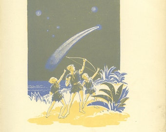 And Then he Fired - Peter Pan Vintage Print 1931
