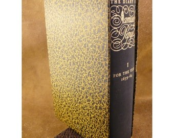 Volume 1 - The Diary of Samuel Pepys For the Years 1659-1664 - c 1943 Vintage Hardcover Book Illustrated by William Sharp