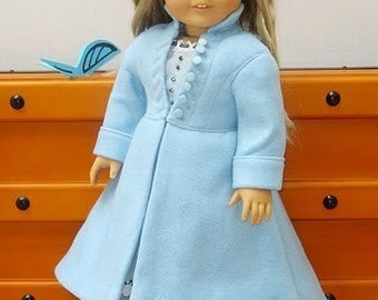 Doll Clothes Alices Coat From Alice in Wonderland fits American Girl Doll or other 18 inch Dolls