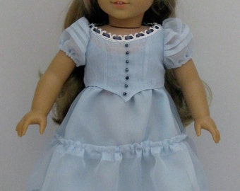 New  Alice in Wonderland Dress fits American Girl or other 18 inch Doll