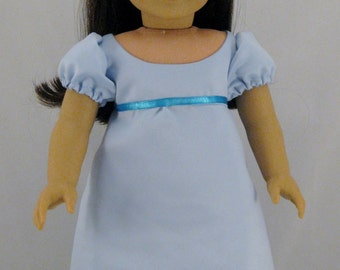 Doll Clothes Wendy's Night Dress From Peter Pan sized to fit American Girl dolls or other 18 inch Dolls