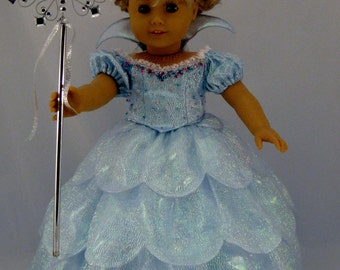 Galinda Doll Dress Sized For American Girl Dolls Galinda Good Witch Costume from Wicked