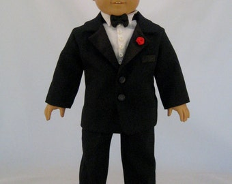 American Girl Sized Tuxedo Custom Made To Your Order