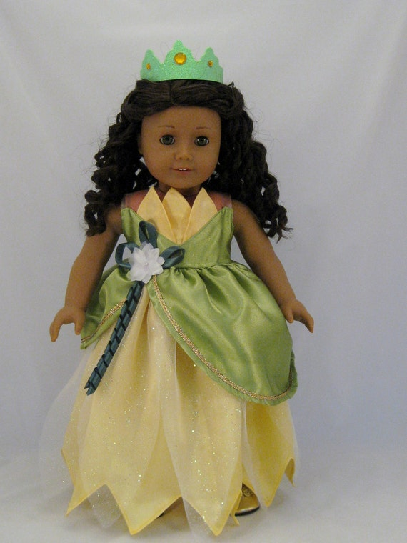Princess Tiana Wedding Dress Princess and the Frog fits American Girl or 18 inch Dolls