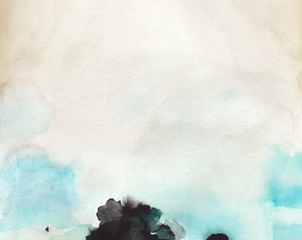 Large Abstract Painting - Landscape Watercolor Painting - Fragile - 24x30 Print - Wall Decor