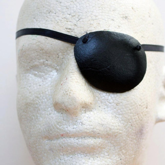 Leather Eye Patch - Handmade Eyepatch in Red, Orange, Yellow, Green, Blue, Purple, Pink, Black, Gold, Silver or Bronze