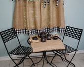 Black And Natural Burlap Tablecloth By Paulaanderika On Etsy