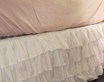 White Ruffle Bed Skirt - Queen or King