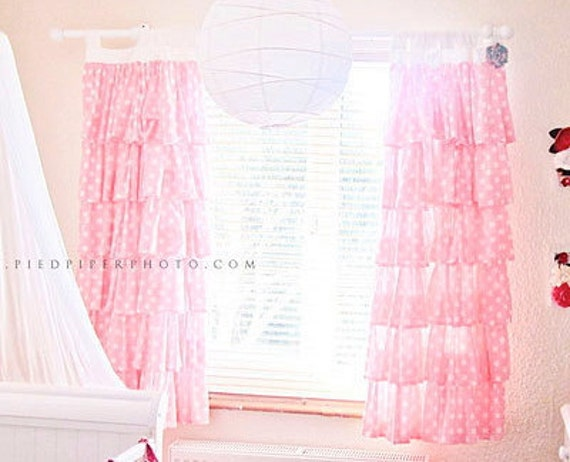 Ruffled Curtains Canada Polka Dot Ruffled Curtains