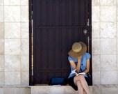 Woman Reading Book Fine Art Photo Print