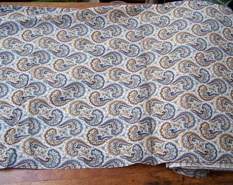 Cotton Fabric unused yardage paisley  1 yard 36 inch width 9 yards available VINTAGE by Plantdreaming