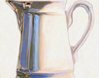 Painting Art Print--Creamer--From Original Oil Painting-kitchen art, still life painting, Kitchen ART