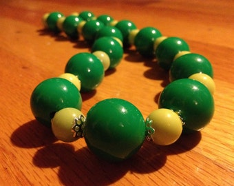 """SALE - Necklace - Retro Style Beaded Summer Fun - Make a Statement - """"Light of the Morning"""""""