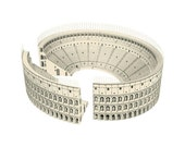 Colosseum || Roman architecture paper model || craft kit with printed white or limestone color || scale 1/500