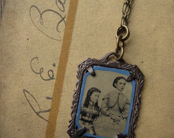 Girls' School - Rasputina Inspired Antique Tintype Necklace