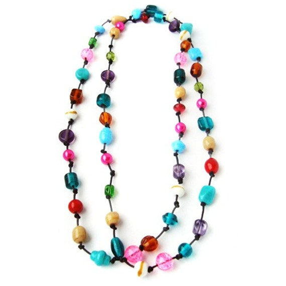 items similar to sale colorful necklace multicolored