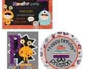 Custom Monster Party Printable Kit