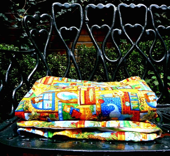 Cotton Duvet Cover - Child Bedding - Baby Crib - Animal Print - Colorful - Primary Colors - Reversible - Hand Made - Tropical - Unisex