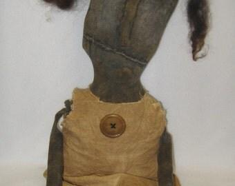 "Essie---Simple 19"" Primitive Black Doll IMMEDIATELY DOWNLOADABLE E-PATTERN"