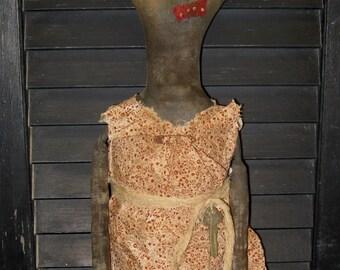 """Mrs. Winnie Baker 26"""" Primitive Black Doll IMMEDIATELY DOWNLOADABLE E-PATTERN"""