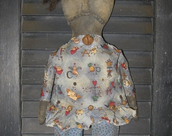 "Knobby Knee Natalie Primitive 20"" Black Doll IMMEDIATELY DOWNLOADABLE E-PATTERN"
