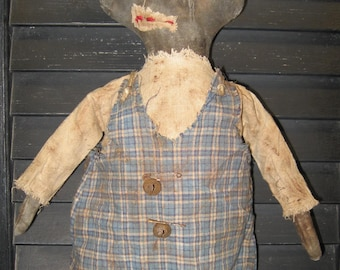 """Brynsworth: 15"""" Black Doll from the Extreme Primitive Doll Collection IMMEDIATELY DOWNLOADABLE E-PATTERN"""