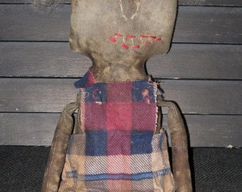 "Cragburn 16"" Black Doll from The Extreme Primitive Doll Collection IMMEDIATELY DOWNLOADABLE E-PATTERN"