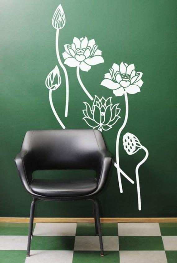 Yoga Studio Wall Decor : Items similar to zen lotus calm yoga studio wall art decal