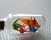 Origami Teeny Tank- Rainbow Cranes