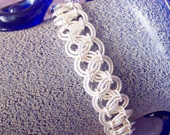 Chainmaille bracelet - silver plated or gold plated non tarnish